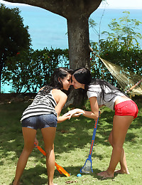 LESBIAN LACROSSE with Sasha Rose, Tanner Mayes - ALS Scan