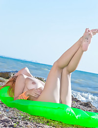 Violla A naked in erotic POOL FLOAT gallery