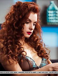 Veronika Glam nude in erotic FIERY HAIR gallery - MetArt.com
