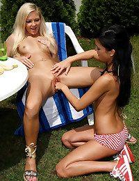 BANANA Raid FISTIN on fondling Nicky Angel, Nella  Thumb