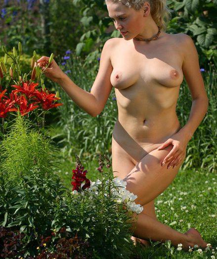 Nice youthful plump along to garden