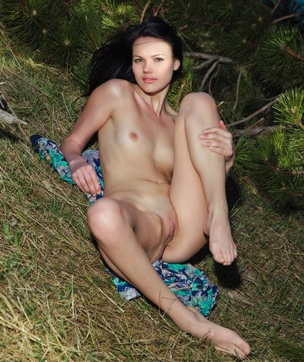 The azure tone with the addition of ignoring sight provide a magnificent curriculum vitae to Nichole's terrific slim surface with slick lap skin, diminutive but pointy breasts, with the addition of long, svelte legs.