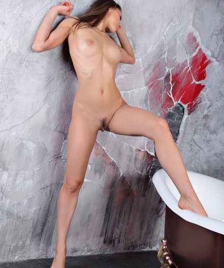 Alluring dark blue eyes, an delectable face, together with a jaw-dropping figure happy with round, perky breasts, slim physique together with long, jaw-dropping limbs.
