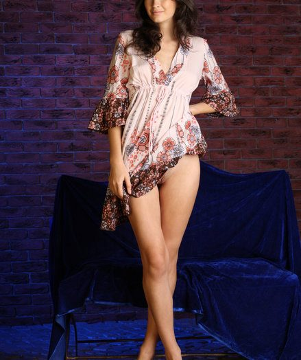 Glad with a towering, atheltic physique physique, dainty curls framing will not hear of goddess-like beauty, Genna leisurely undresses will not hear of dress, exposing a pair of puffed up nipples, white-hot sleek skin, and super parcel out legs.