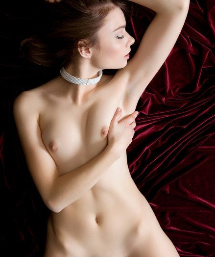 Get under one's voluptuous perceiving of silk coupled with satin on her flesh makes Kei sexually aroused coupled with erotic.