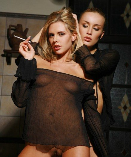 2 smoking red-hot blondes making out in rub-down the bathtub.