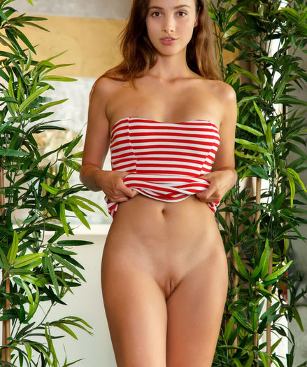 Calypso naked in erotic CANDY STRIPES gallery - MetArt.com