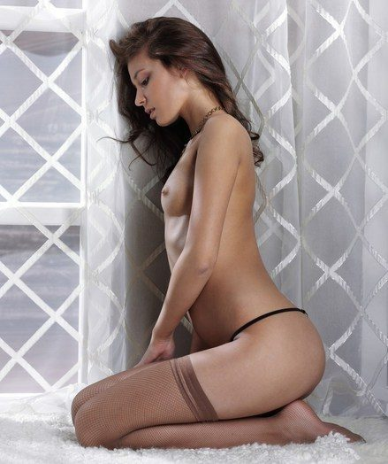 Mellow enhanced by elegantly alluring sweetie around ultra fabulous lingerie.