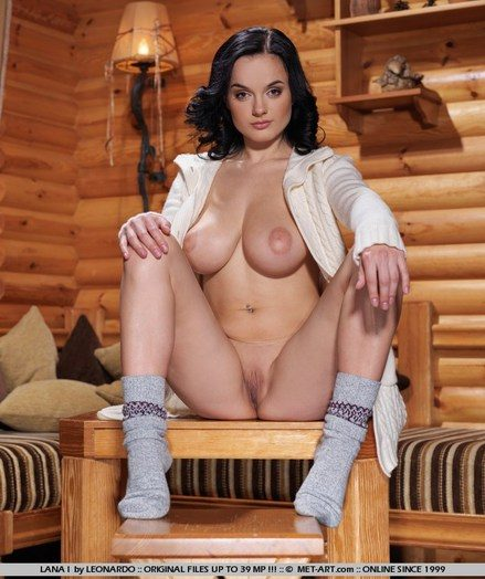 Sensual debutante with morose facial cumshot expressions, and large, pointy breasts.