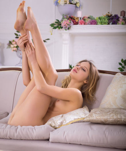 Clarice nude in softcore Gorgeous SOFA gallery