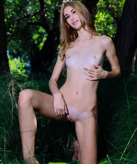 Aileen nude in erotic TIGER STRIPES gallery